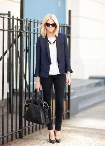 blue-and-black-pantsuit